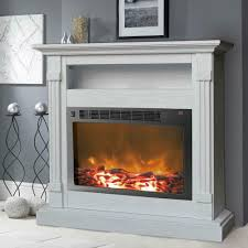 details about cambridge sienna 37 in white electronic fireplace mantel with insert