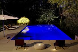 inground pool lights pool modern with aquascape blue blue outdoor beautiful lighting pool
