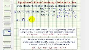 parallel planes equations. ex: find the equation of plane containing a given line and point using vectors - youtube parallel planes equations