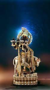 lord krishna black statue wallpaper ...