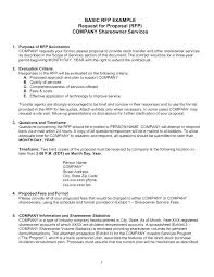 Writing A Proposal Example Rfp Proposal Cover Letter Sample Cover Letter For Non Profit Grant