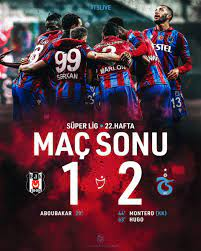 "Trabzonspor on Twitter: ""⏱️ 90' Karşılaşma sona erdi. Beşiktaş 1-2  Trabzonspor #TSLive… """