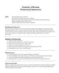 Professional Summary For Resume No Work Experience Example Of A Summary For A Resume Bitacorita
