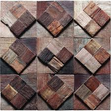 tst home hotel bar deco diamond squared vintage reclaimed wood decorative wall panels