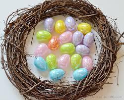 diy easter egg wreath