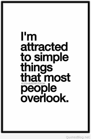 I'm Attracted To Simple Things Quote Beauteous Simple Quote