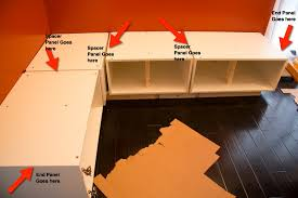 part 4 of a tutorial on building diy kitchen banquette seating the cover panels for our upper cabinets