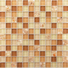 brown glass tile backsplash ideas for kitchen walls yellow resin chips with conch mosaic designs bathroom