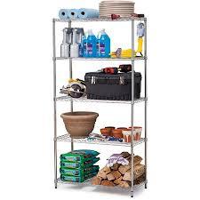 Work Choice 5-Tier Commercial Wire Shelving Rack, Zinc - Walmart.com