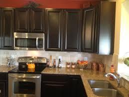 stone kitchen backsplash dark cabinets. Brilliant Dark Kitchen Stone Backsplash Ideas With Dark Cabinets Tv Above Fireplace Kids  Industrial Epansive Professional Organizers Decorators For