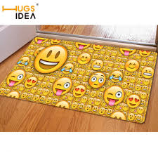 yellow outdoor rug unique hugsidea funny front entrance mat 3d emoji printing area rugs for