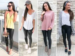4 ways to style faux leather leggings