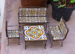 where to buy miniature furniture. Modren Furniture Miniature Furniture Set Of 4 Handmade With Metal Work And Mexican Talavera  Tiles Home Decor Kids Room Miniature Collector Gift For Where To Buy Furniture D