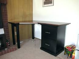 diy corner desk using file cabinets with best computer cabinet home furniture intended