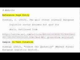 write article references in apa format