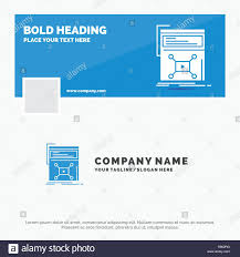 Web Design Company Facebook Page Blue Business Logo Template For Marketing Page Video Web