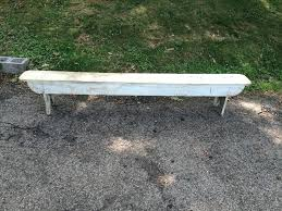 Antique Outdoor Bench Wood Amazing White Painted Wooden  Attainable Vintage With Regard To Designing   O44