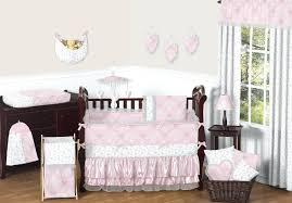 elegant baby furniture. Decoration: Elegant Baby Girl Crib Bedding Light Pink Butterfly Set Nursery Collection Damask Print Furniture R
