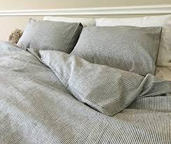 Amazon.com: Black and White Striped Duvet Cover, Ticking Striped ... & Black and White Striped Duvet Cover, Ticking Striped Bedding, Custom Bedding,  Linen Bedding Adamdwight.com