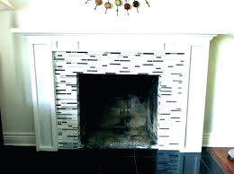 fireplace surround tile design glass diy with storage g