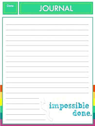 Daily Workout Journal Fitness Diary Template