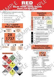 Hazchem Code Chart Hazardous Chemicals Hazchem Adr Chart