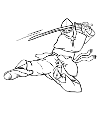 Small Picture Free Ninja Coloring Page