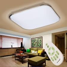 led ceiling light fixture lamp flush mount bedroom lighting w battery operated wireless led night light remote control ceiling