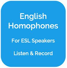 10 видео 296 278 просмотров обновлен 8 февр. 100 English Homophones List Practice Exercises For Esl Speakers