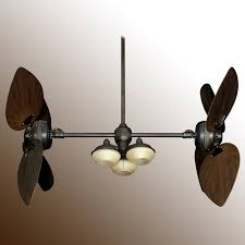 twin star iii double ceiling fan  oiled bronze with  blade options