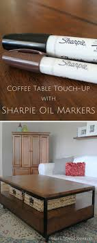 diy furniture refinishing projects. Furniture Touch Up With Sharpie Oil Based Paint Markers Diy Refinishing Projects L