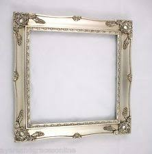 silver antique picture frames. SHABBY CHIC SQUARE ORNATE PICTURE FRAME ANTIQUE BLACK IVORY GOLD SILVER OR WHITE Silver Antique Picture Frames I