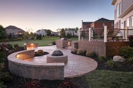 stamped concrete patio with fireplace. Signature Concrete Design Custom Outdoor Living Hardscapes Stamped Patio Designs With Fire Pit Fireplace P