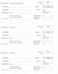 Collection Receipt Template Receipt Templates Dotxes 20