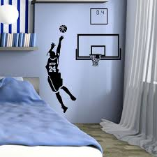 24 clutch shooting cavs basketball wall sticker home decor big vinyl child room sticker diy vinyl wall es vinyl wall sayings from langru1002