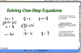 solving one step equations part 2