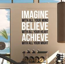 Wall Decal Size Chart Imagine Believe Achieve Gym Wall Decal By