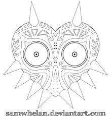 Printable Majora S Mask Coloring Pages Bltidm