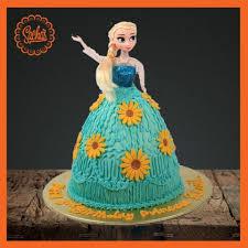 Elsa Doll Icing Fondant Cake Delivery All Over Karachi