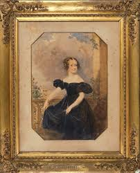 Keenan Louisa   Portrait of Young Lady on a Balcony (1836 ...