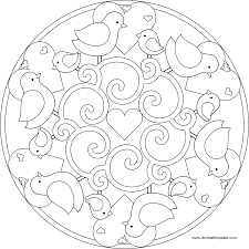 Love Free Simple Mandala Coloring Pages 4112 Free Simple Mandala