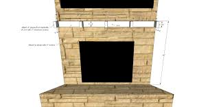fire pit fireplace mantel shelves diy shelf support her tool