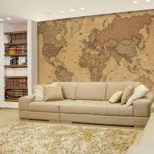 World Map Home Decor Amazoncom Wall26 Antique Monochrome Vintage Political World
