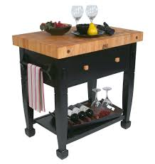 Kitchen Chopping Block Table Boos Jasmine Butcher Block Black Table Base Jasmn36243 D S Bk