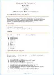 Cleaner Resume Objective Sample For Web Cleaning Job In Cabin
