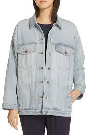 Oversize Stretch Organic Cotton Denim Jacket