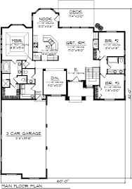 dazzling design 14 house plans with 3 car garage on side two story designs rear splendid