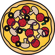 whole pizza clipart.  Clipart Pizza Pie Inside Whole Clipart R