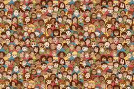 People Pattern Awesome 48 Doodle Patterns Backgrounds Free Premium Templates