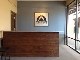 custom made reception desk for a chiropractic office